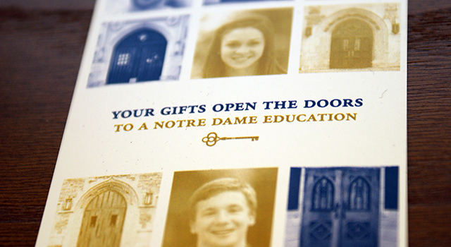 Notre Dame Scholarship Fellowship Recognition